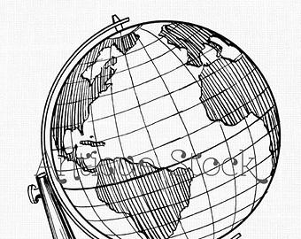 340x270 Earth Globe Clip Art Etsy