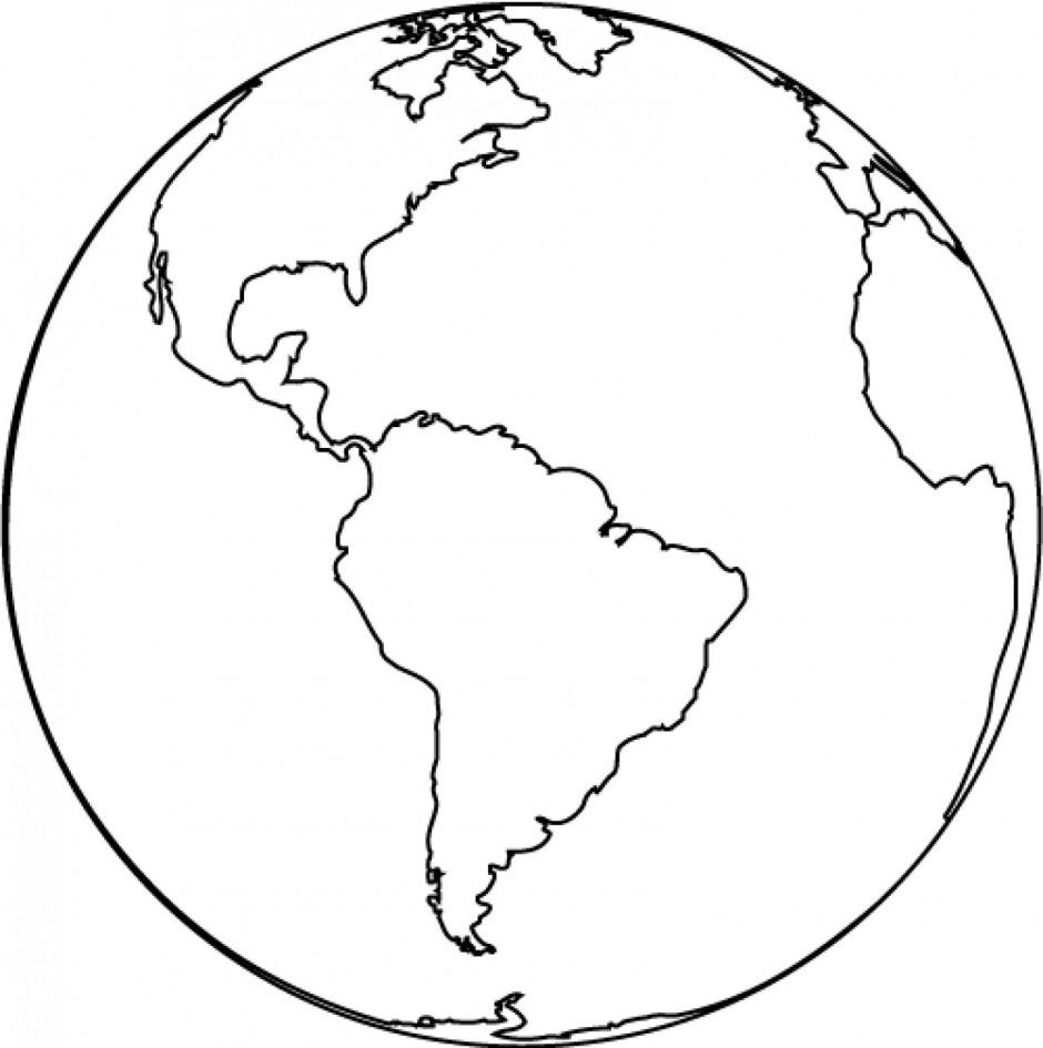 940x945 Earth Globe Clipart Black And White Free Clipart Images 2 45