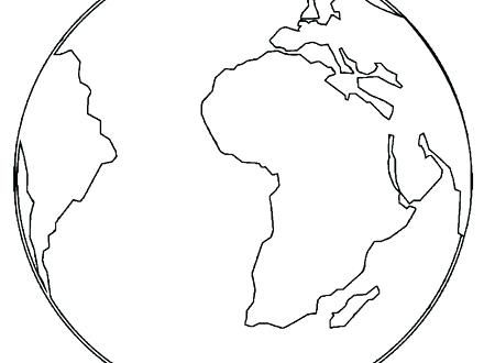 440x330 Globe Coloring Globe Coloring Pages Free Printable Snow Globe