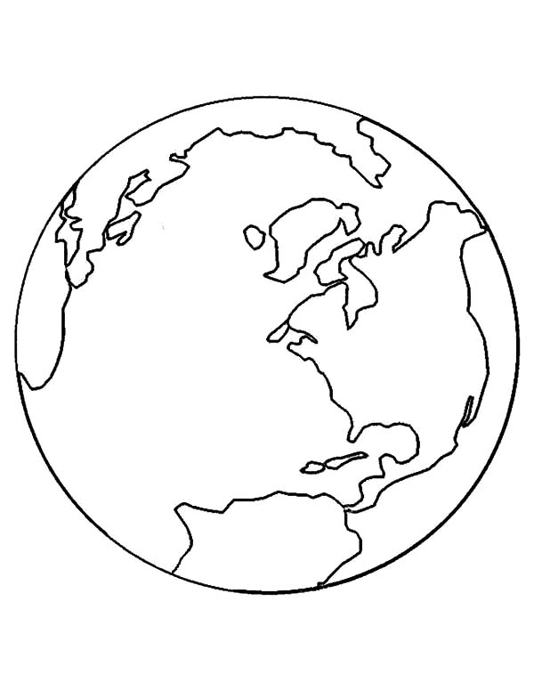 600x776 Globe Coloring Page