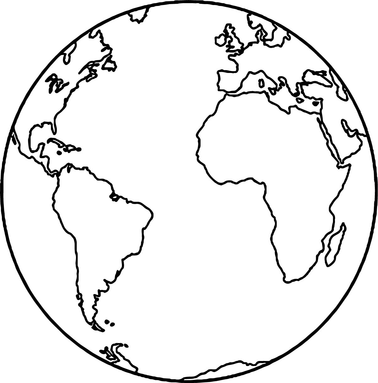 1203x1218 Globe Coloring Page