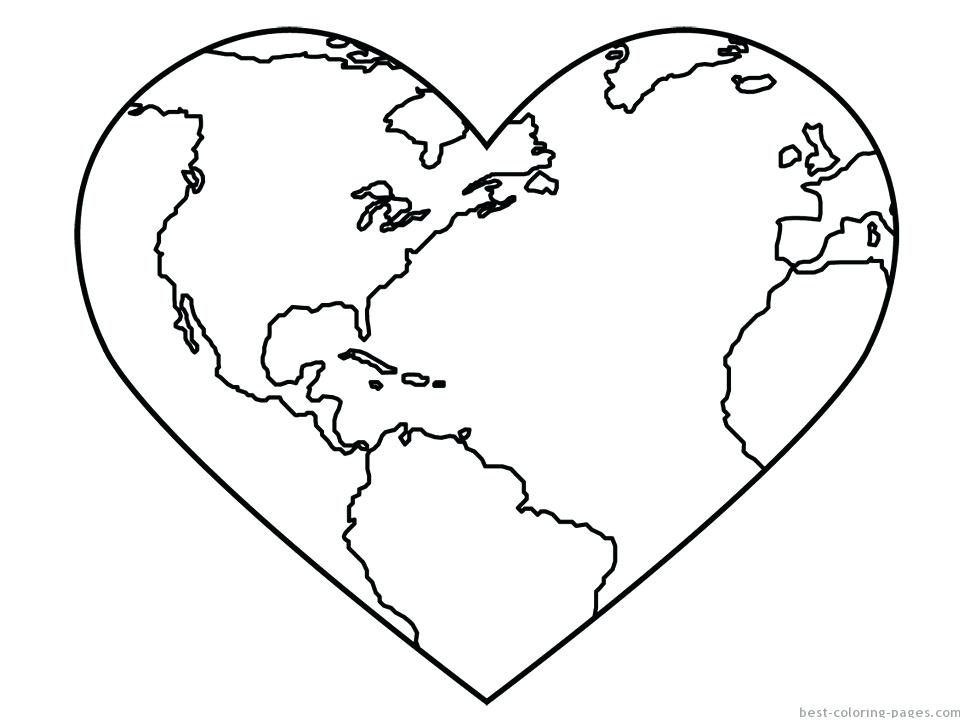 970x728 Good Earth Day Coloring Pages Free Download World Globe Page Cute