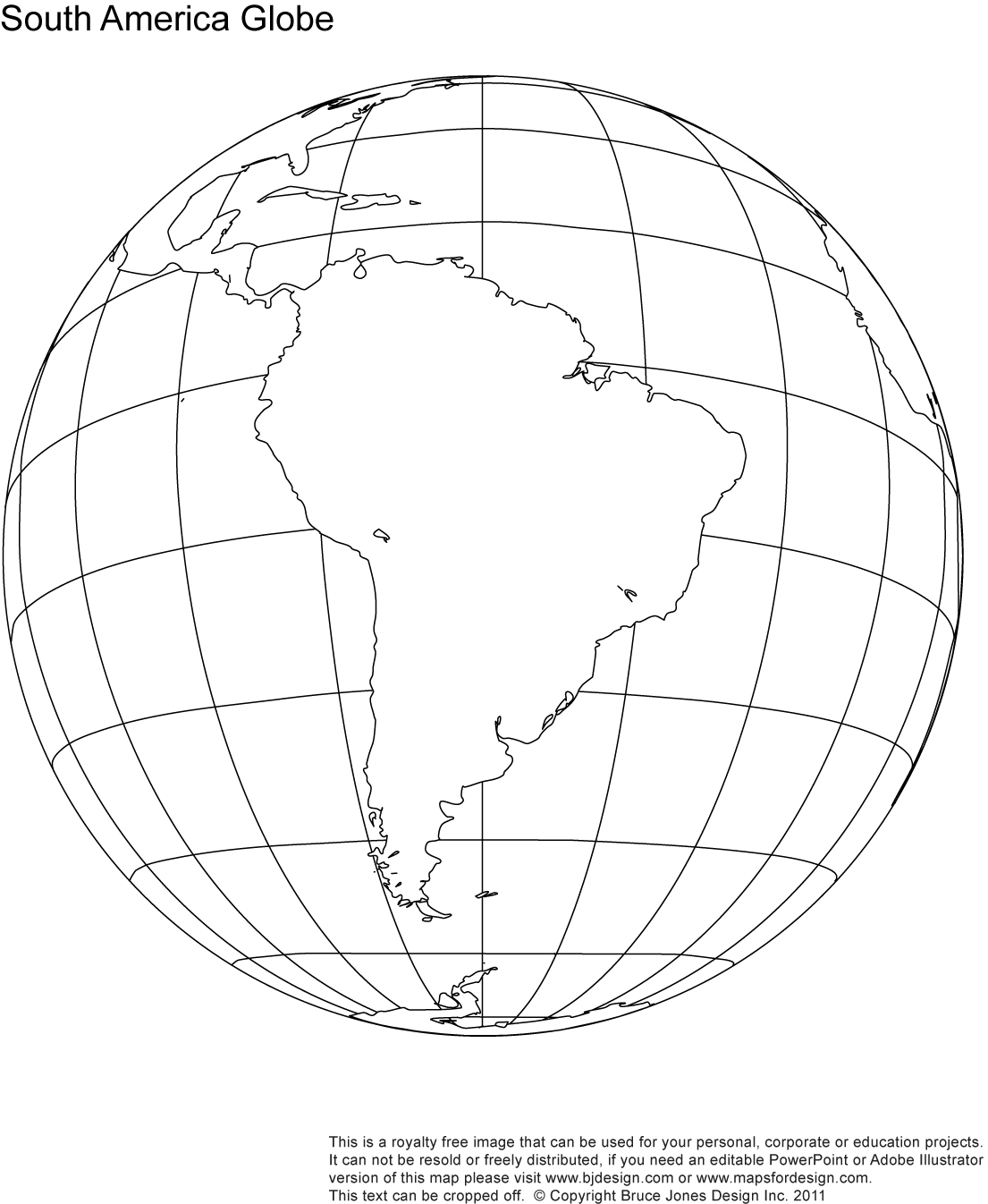 1105x1346 Map Of South America Unlabeled Printable Blank World Globe Earth