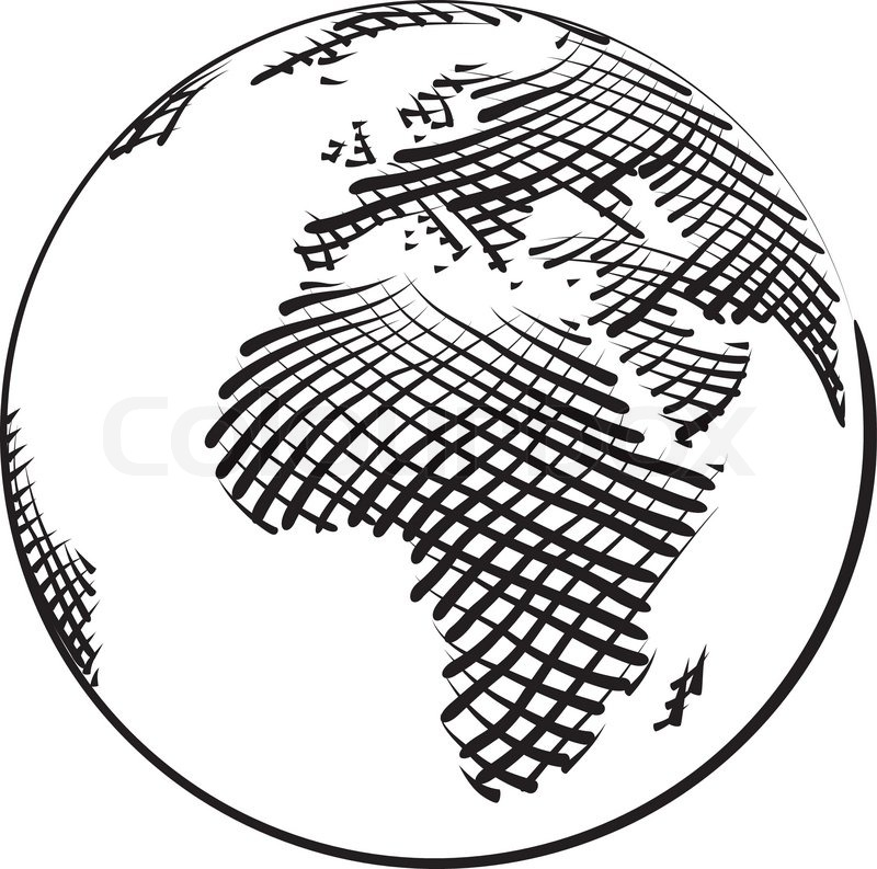 800x793 Vector Illustration Of World Globe Stock Vector Colourbox