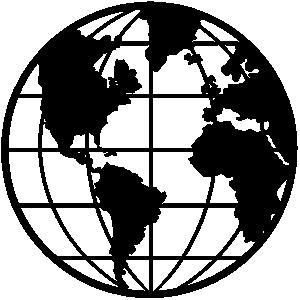 300x300 World Globe Clipart Black And White