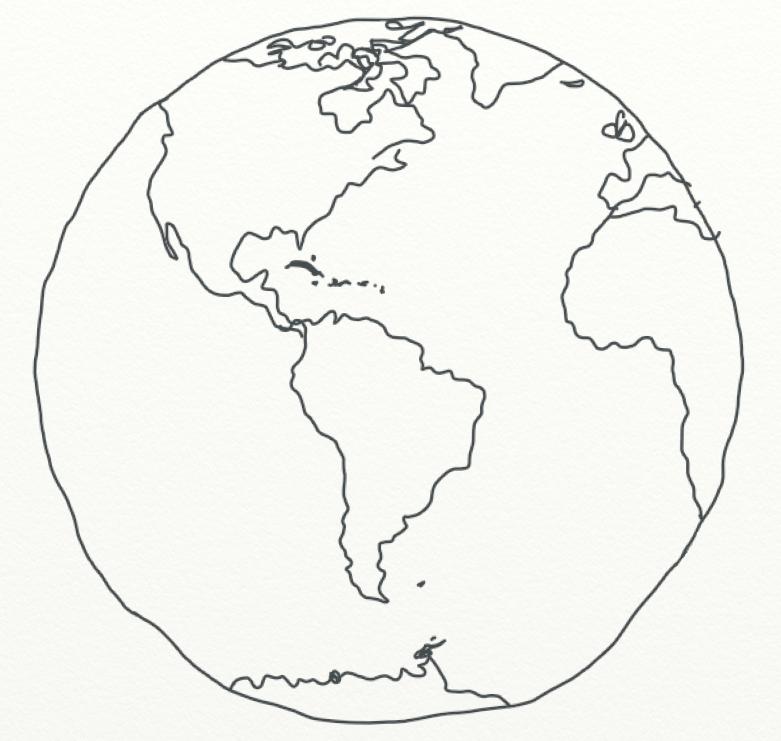 781x741 World Globe Line Art By Xxchloejacquelinexx