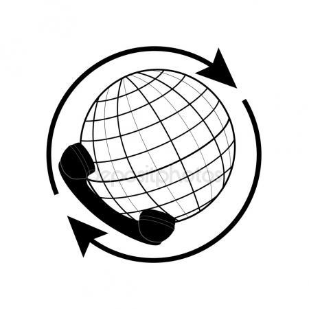 450x450 Drawing World Globe 5 Stock Vector Julydfg