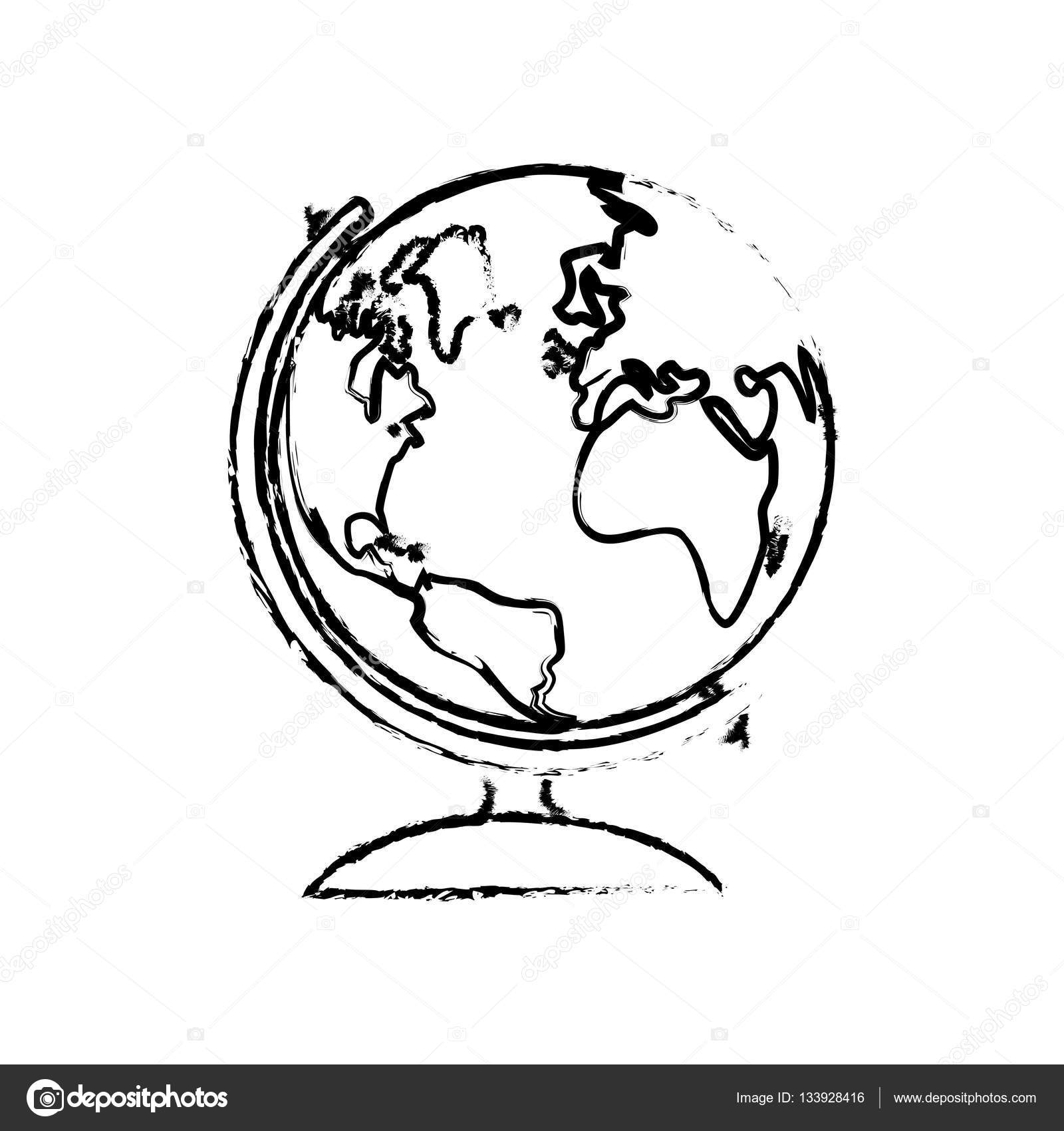 1600x1700 School World Globe Stock Vector Djv