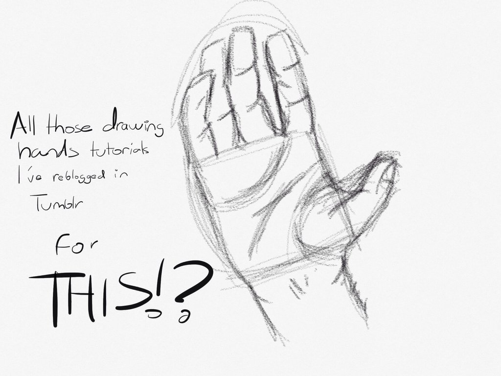 1024x768 Drawing Hands Fail By Mauworld274