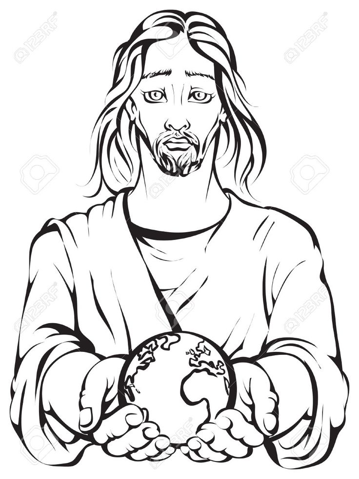 736x980 Earth Jesus Drawing Merry Christmas Amp Happy New Year Arts