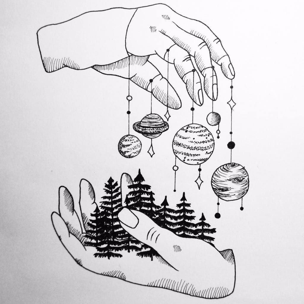 1024x1024 God Holds The World And The Skies In His Hands Lineweights