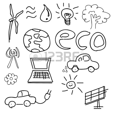 450x450 Green World Drawing Concept Stock Photo, Picture And Royalty Free