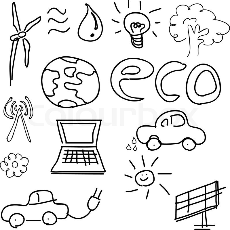 799x800 World Concept Tree On The Earth In Hands Ecology Doodles Icons