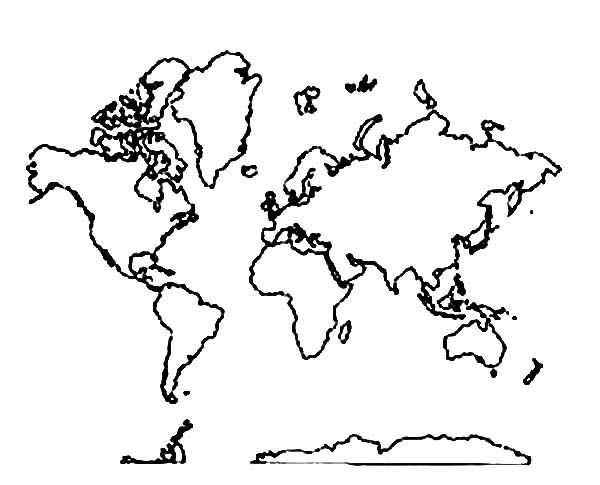 Line Drawing World Map : World line drawing at getdrawings free for personal