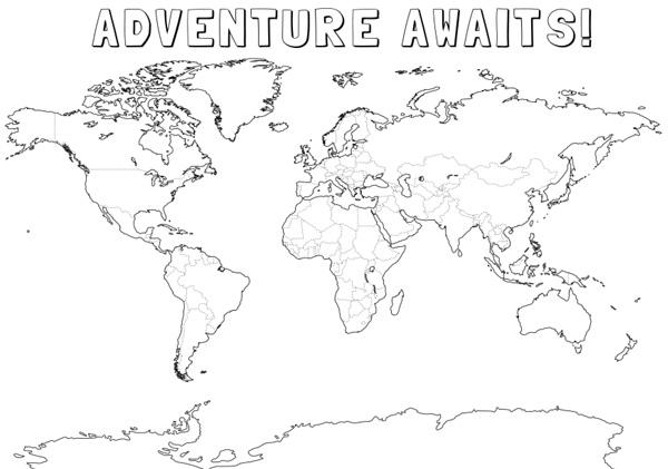 World Map Drawing