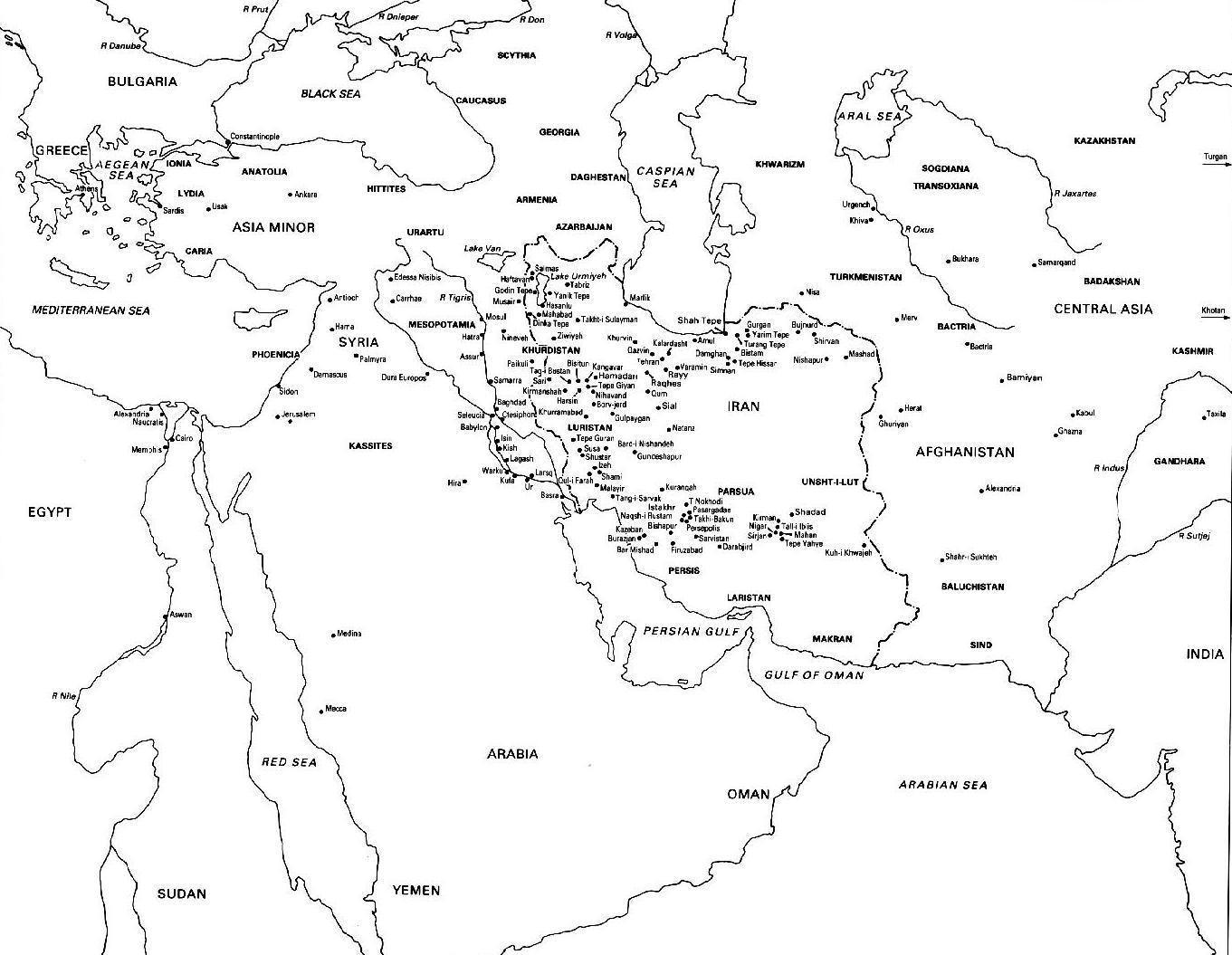 1361x1055 Ancient World Map