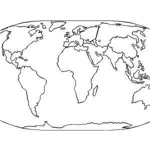 World map drawing for kids at getdrawings free for personal 300x300 garbage truck coloring pages for kids gumiabroncs Choice Image