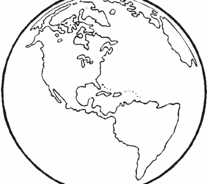 678x600 The World Coloring Pages World Map Coloring Sheets The World