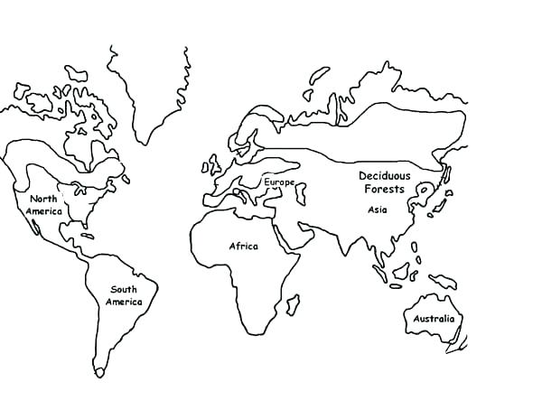 Printable World Map Coloring Page.World Map Drawing For Kids At Getdrawings Com Free For Personal