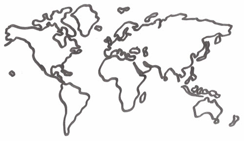 World map drawing tumblr at getdrawings free for personal use 500x290 world map tattooforaweek temporary tattoos largest temporary gumiabroncs Gallery