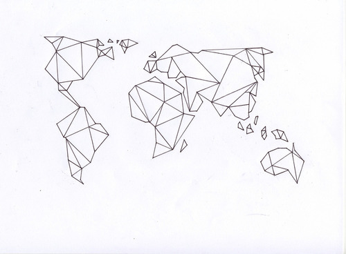 World map drawing tumblr at getdrawings free for personal use 500x368 geometric map tattoo tumblr gumiabroncs Gallery