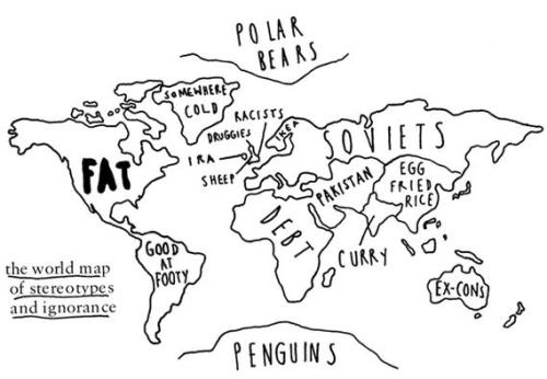 World map drawing tumblr at getdrawings free for personal use 500x346 map of stereotypes is canada fat too wellesley underground gumiabroncs Gallery