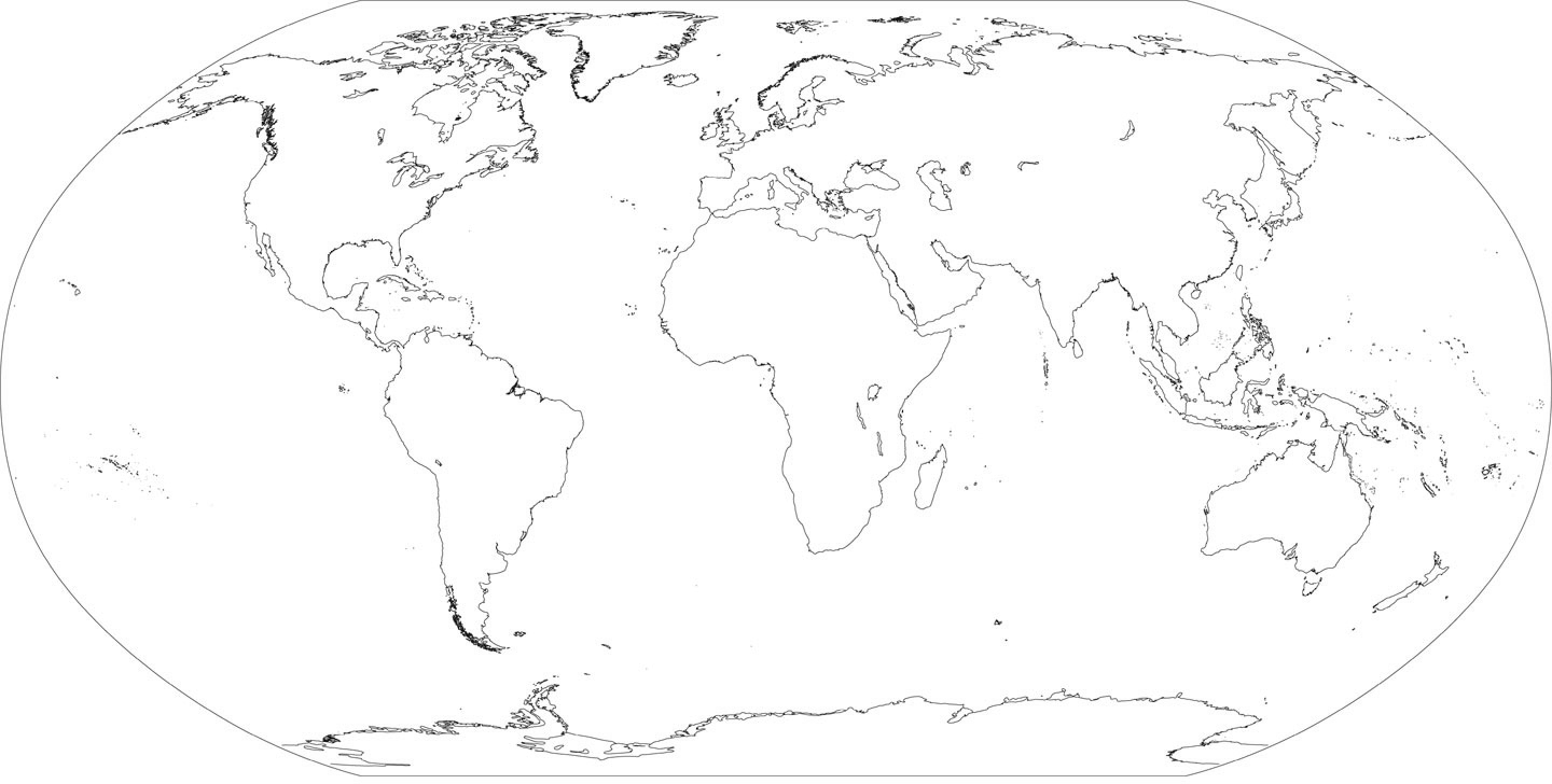Free For Personal Use World Map For Drawing Of Your