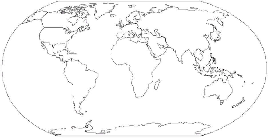 graphic about World Maps Printable titled Planet Map For Drawing at  Free of charge for person