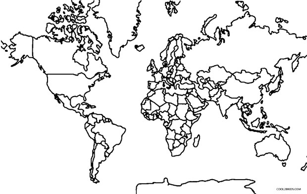 620x393 Printable World Map Coloring Page For Kids Cool2bkids