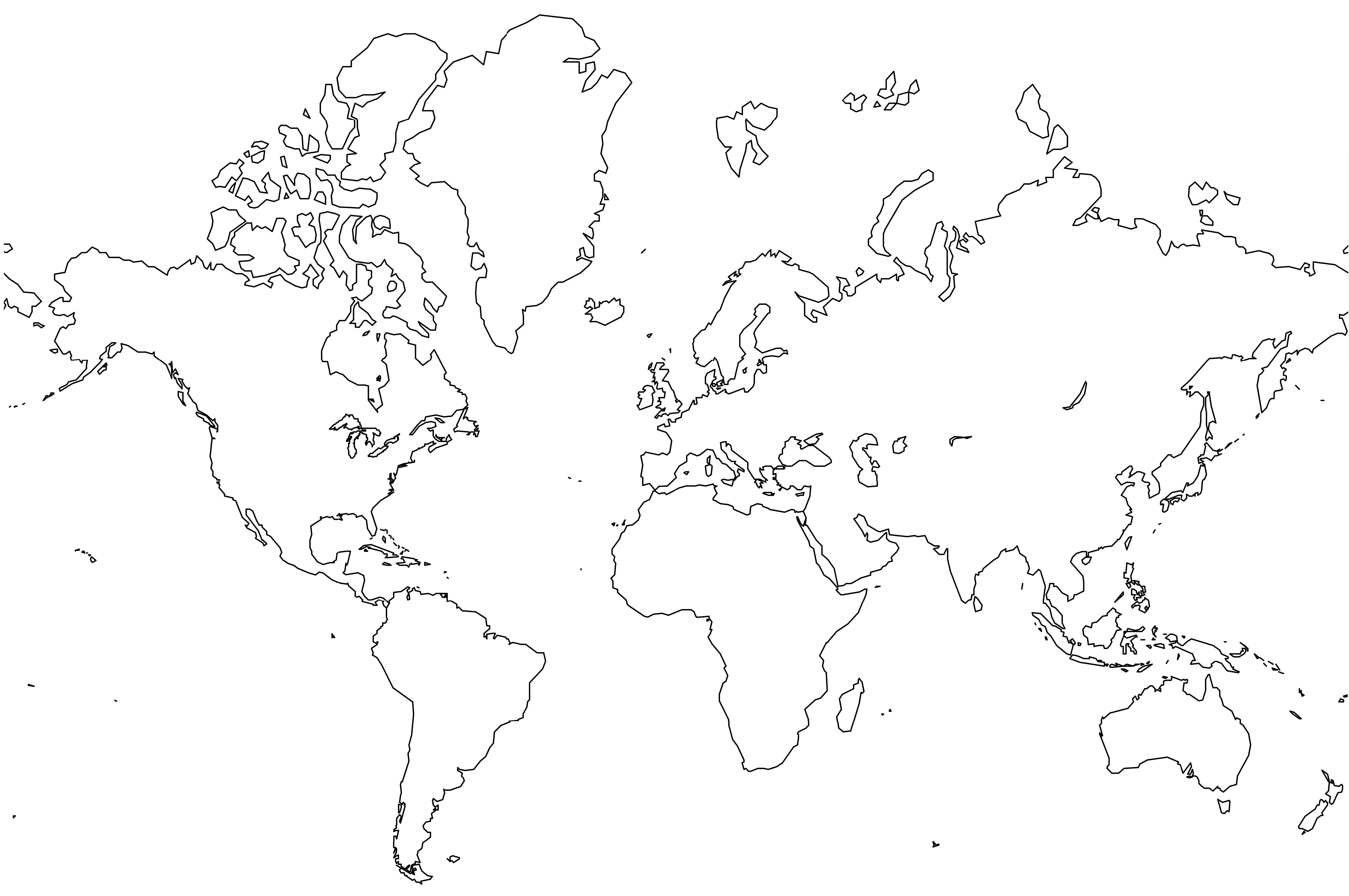 World Map For Drawing at GetDrawingscom Free for personal use
