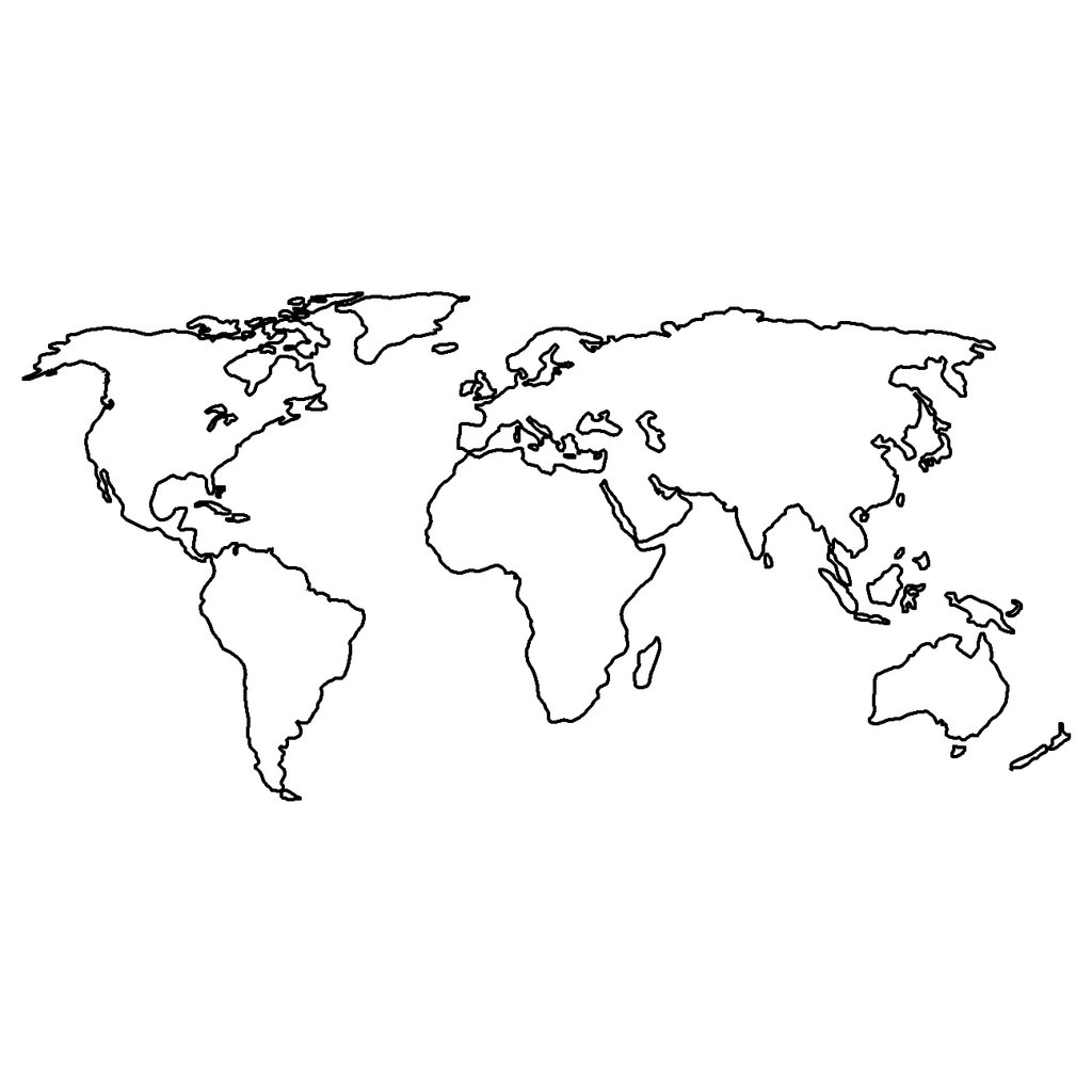 World map for drawing at getdrawings free for personal use 1024x1024 world map gumiabroncs Gallery