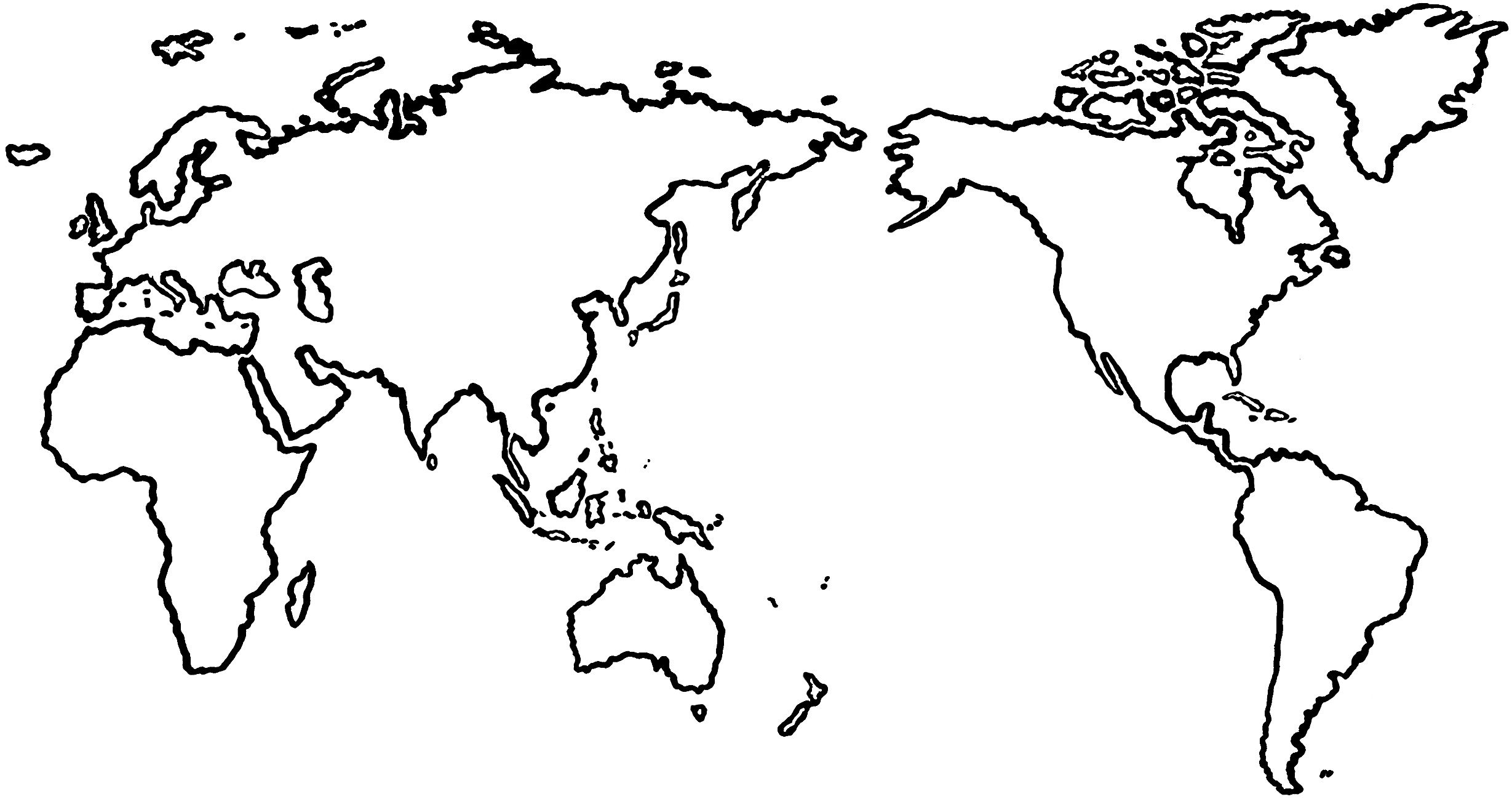 World map for drawing at getdrawings free for personal use 2458x1303 how to draw map of world open this world map template jpeg and gumiabroncs Image collections