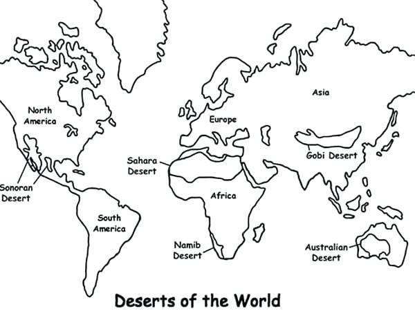 World map line drawing at getdrawings free for personal use 600x460 europe map coloring page maps deserts of the world coloring pages gumiabroncs Image collections