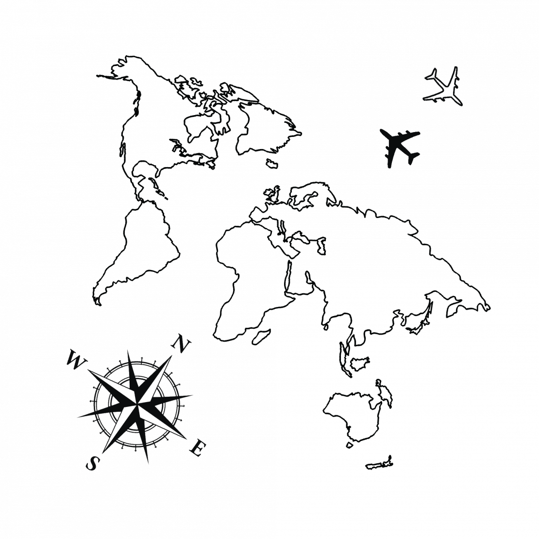 World map line drawing at getdrawings free for personal use 1110x1110 temporary tattoo buy gumiabroncs Gallery