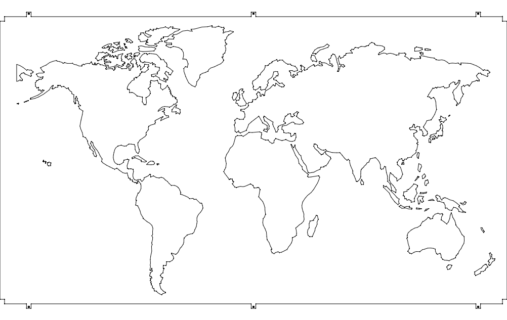 World map line drawing at getdrawings free for personal use 1002x633 world map dxf file free download gumiabroncs Image collections