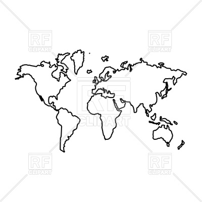 World map line drawing at getdrawings free for personal use 400x400 world map outline royalty free vector clip art image gumiabroncs Image collections