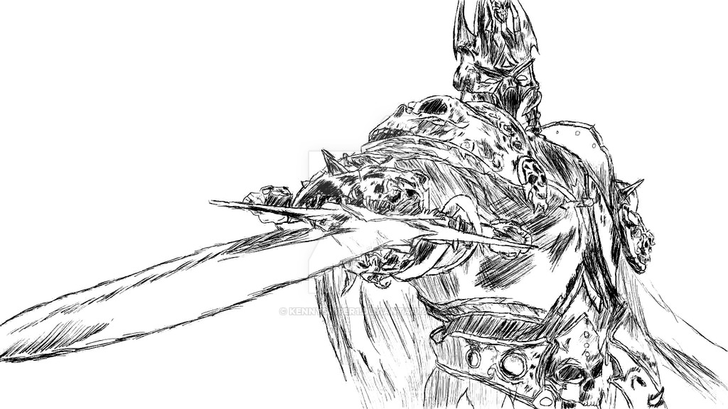 1024x576 Quick Sketch Of The Litch King From Wow By Kennysniper1