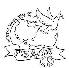 226x223 peace day coloring pages