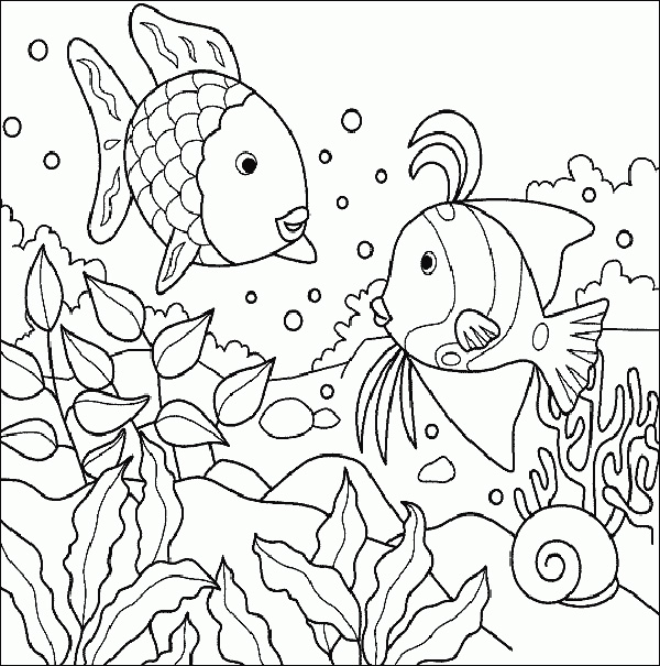 600x605 sea coloring pages under the sea coloring pages to print best 2017