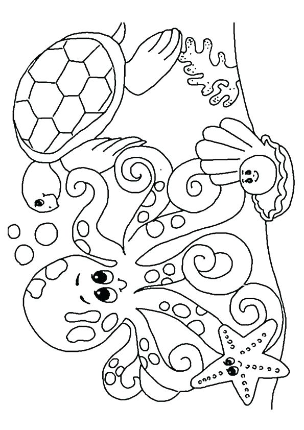 595x842 Under The Sea Coloring Sheets Pages High