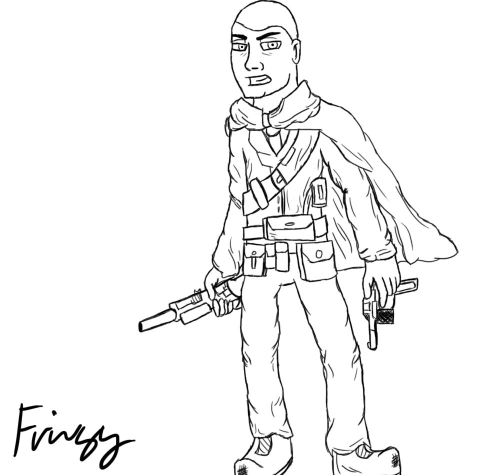 1000x950 A Miscellaneous World War 1 Soldier Sketch