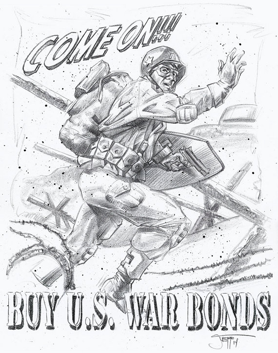 570x725 War Ii Art Drawing