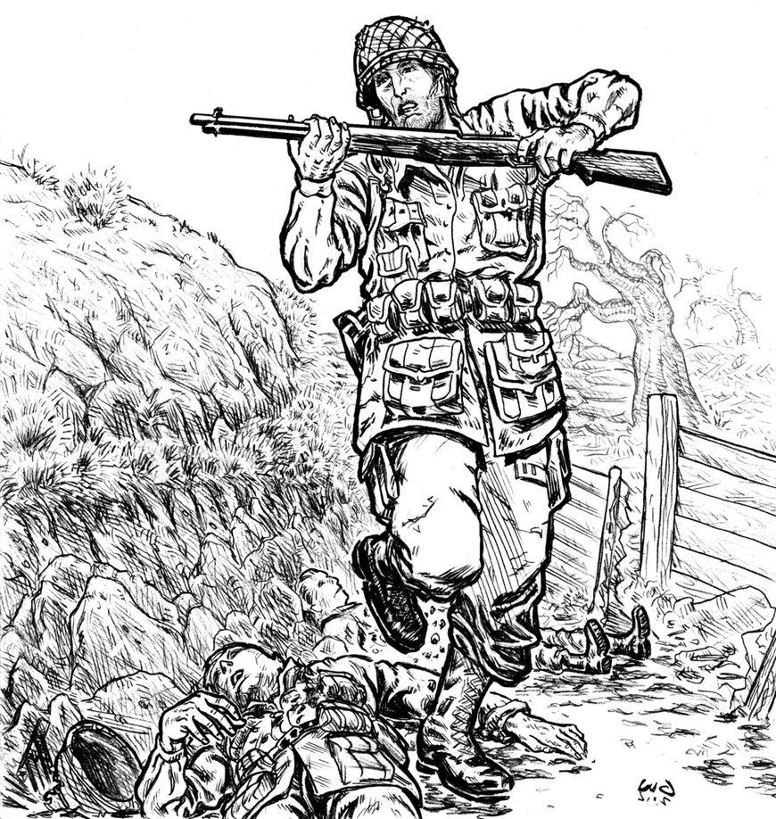 870x918 World War Ii Sketch By Guilhermerw