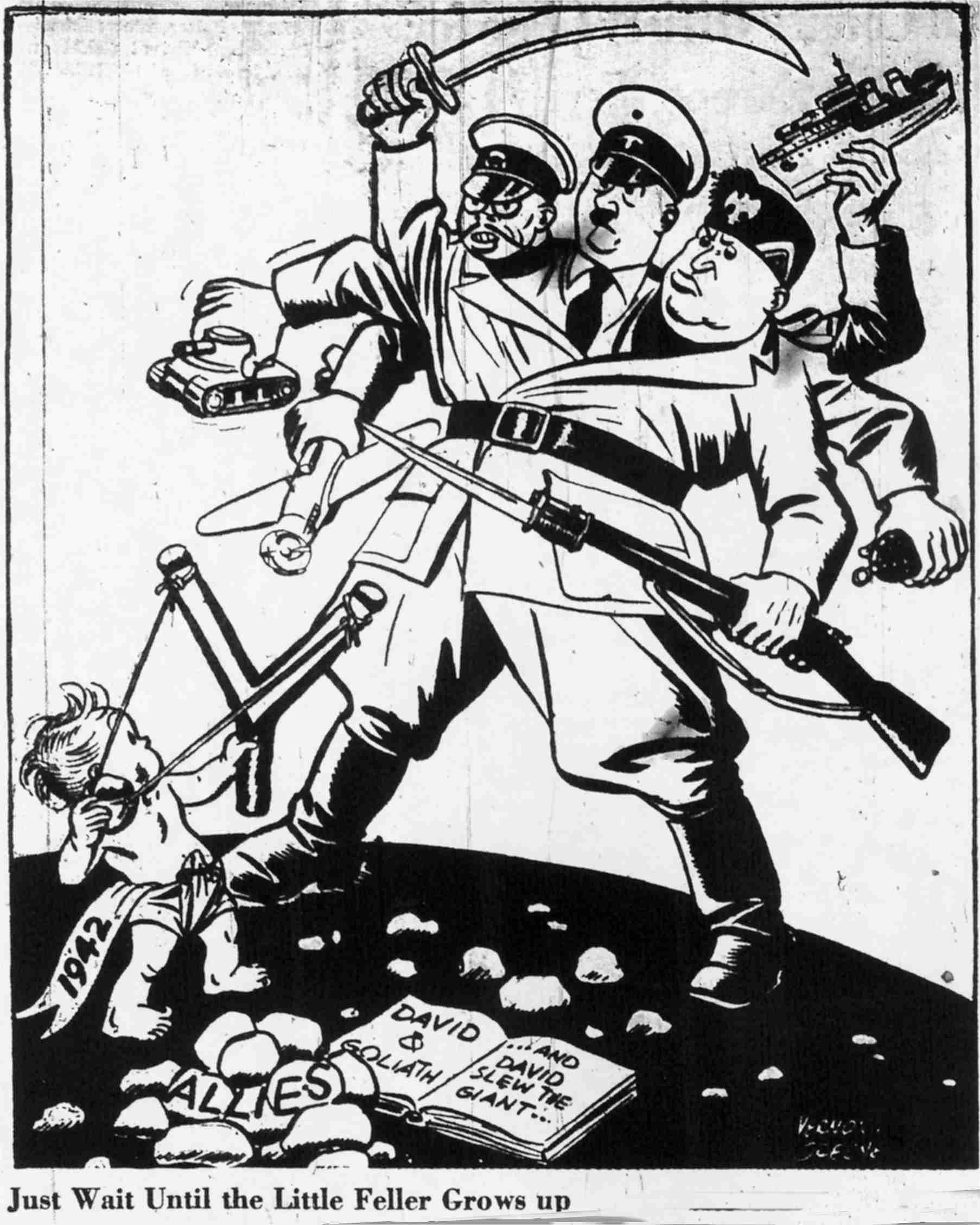 1806x2256 World War Two Political Cartoons Political Cartoon Shows Baby
