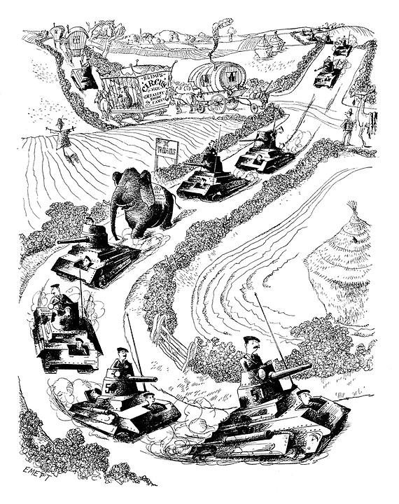 570x720 Punch Cartoons On Ww2, The Second World War Punch Magazine
