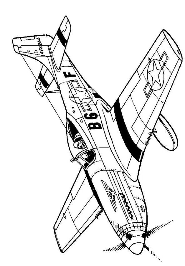 592x851 46 Coloring Pages Of Wwii Aircrafts On Kids N Fun.co.uk. On Kids N