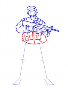 227x302 How To Draw Soldiers, Step By Step, Figures, People, Free Online