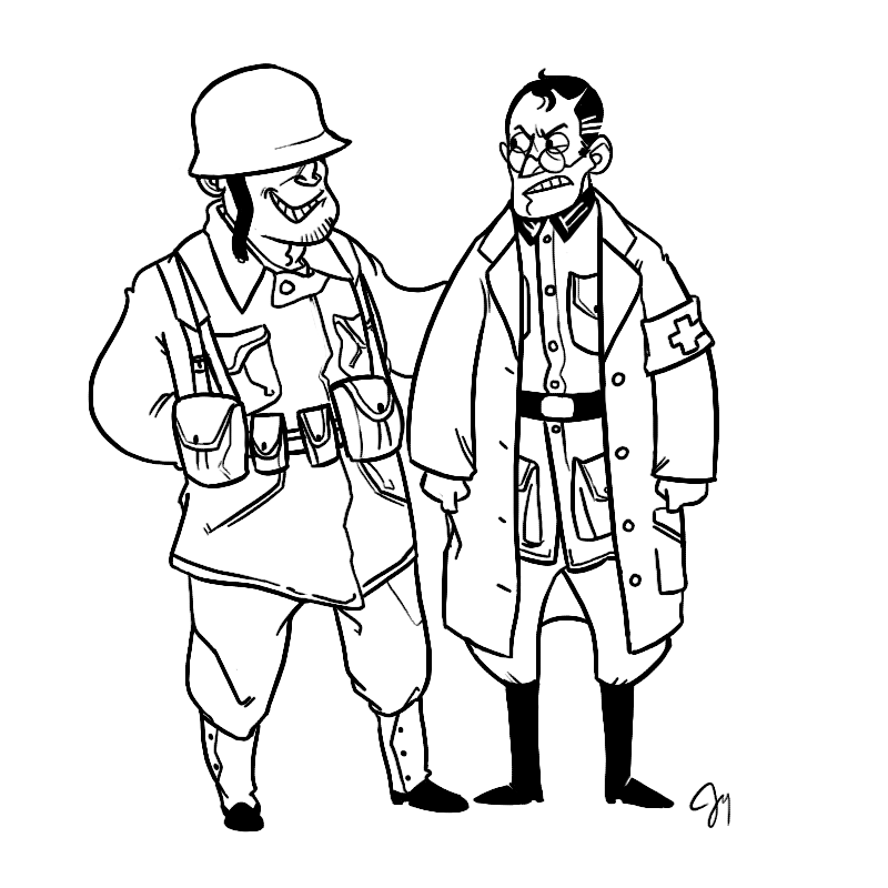 800x800 Tf2 Wwii Soldier And Medic By Monkeyoo