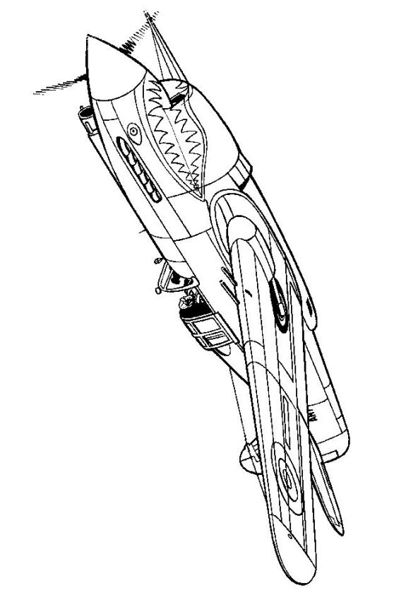 558x842 Coloring Page Wwii Aircrafts