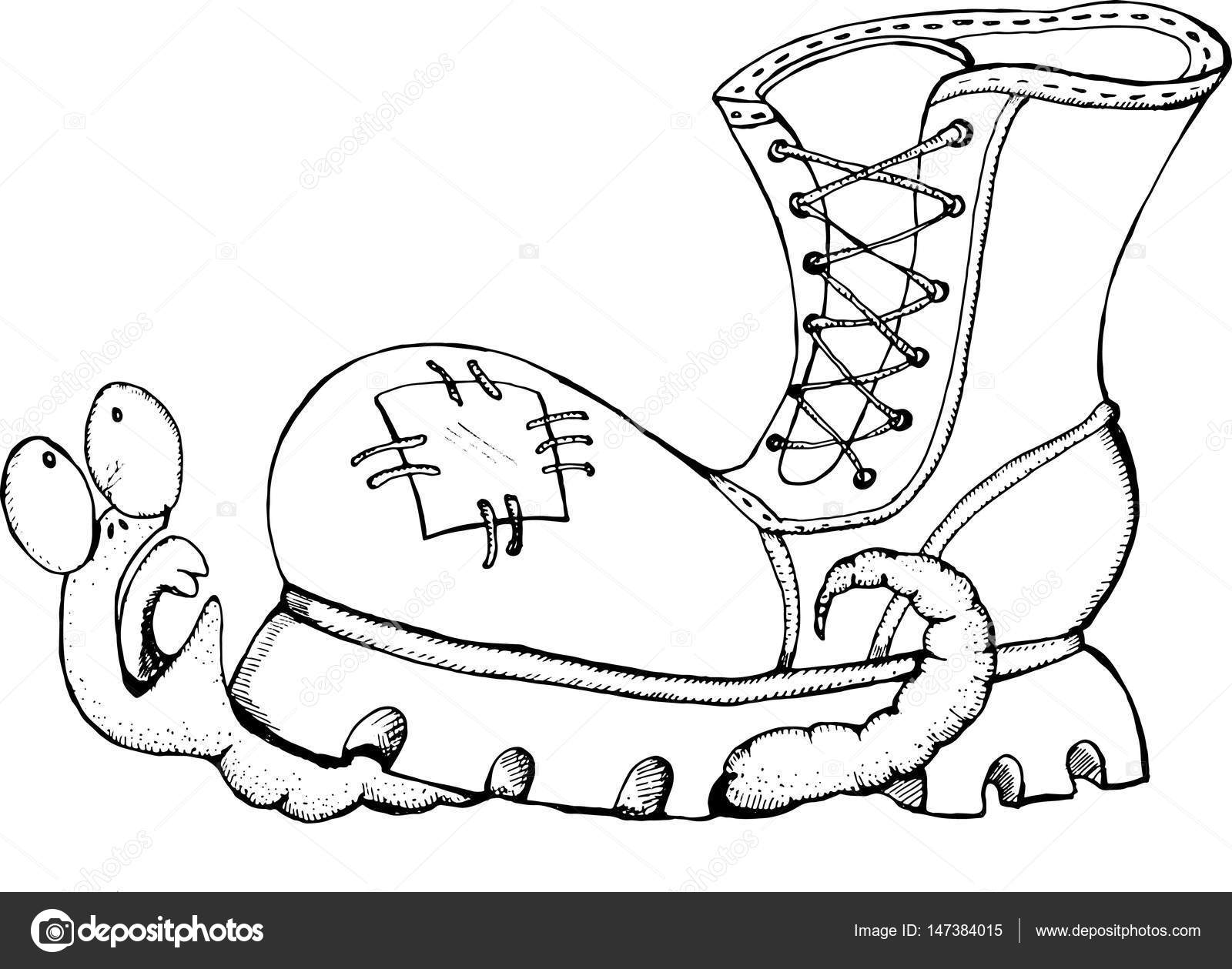 1600x1259 A Worm Crushed By A Shoe. Vector Stock Vector Bobcat 2004@mail